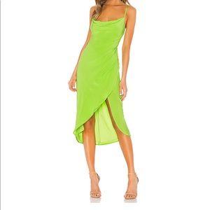 Lovers + Friends Dresses - Lovers + Friends Noah Wrap Dress in Lime Green